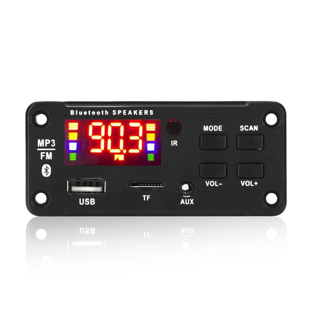 New 12V Bluetooth5.0  Decoding Board Module Wireless Car USB mp3 Player Bluetooth TF Card Slot  / FM
