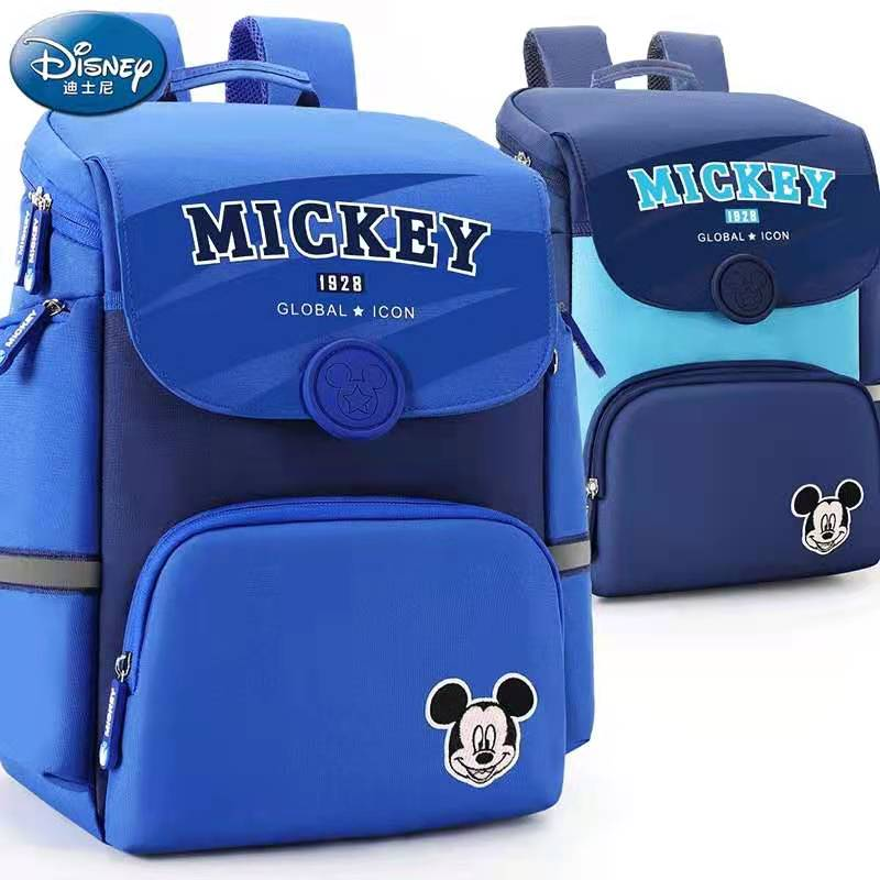 Disney Mickey School Bags For Boys Girls Primary Student Shoulder Backpack Orthopedic Grade 1-5 Age 7-12 Years Mochilas Escolar