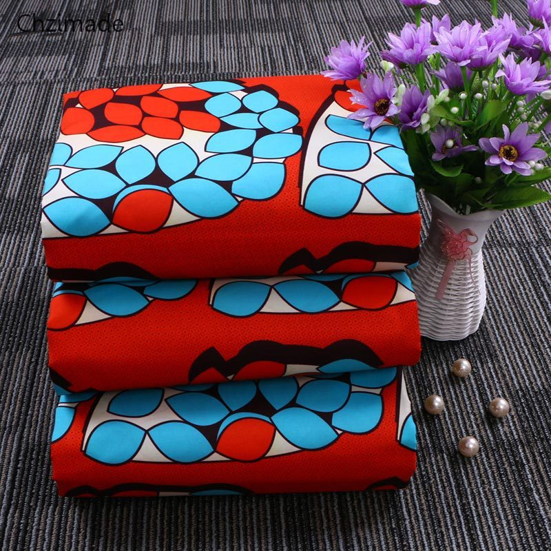 Lychee Life 1 yarda Ankara africana de poliéster de tela de cera Real tejido con estampado Floral para la fiesta, confección de ropa manualidades de costura