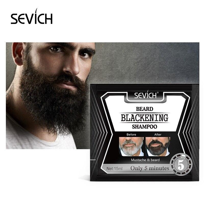 5 minutos Shampoo Para Homens Vitamina Essência Tintura de Barba Barba Barba Erva Hidratante Nutritivo Reparação TSLM1