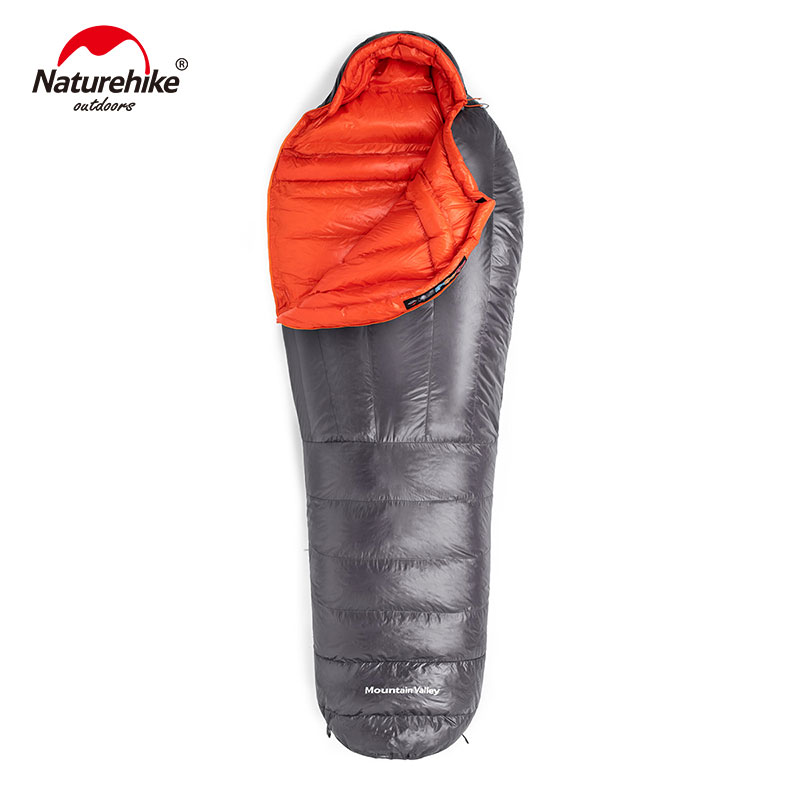 down sleeping bag autumn and winter outdoor adult envelope style thickening thermal duck down sleeping bag 400 1500g filling Naturehike Down sleeping bag Outdoor thickening Warm camping Single sleeping bag Adult light Mummy sleeping bag NH19YD001