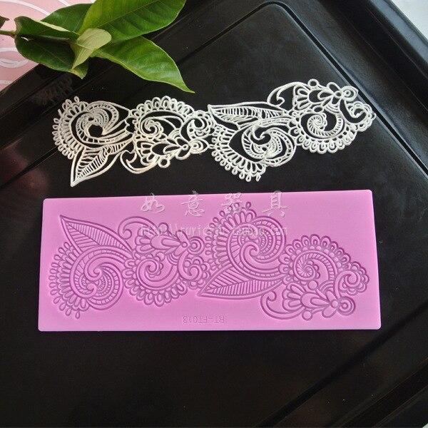 Tapete de renda bolo decoração moldes fondant silicone esteira de silicone fatima padrão sugarcraft ferramentas bakeware ferramentas de cozimento k502