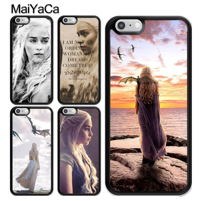Funda de juego del trono Daenerys Targaryen para iPhone 11 Pro MAX X XR XS MAX SE 2020 6S 7 8 Plus, funda 5s