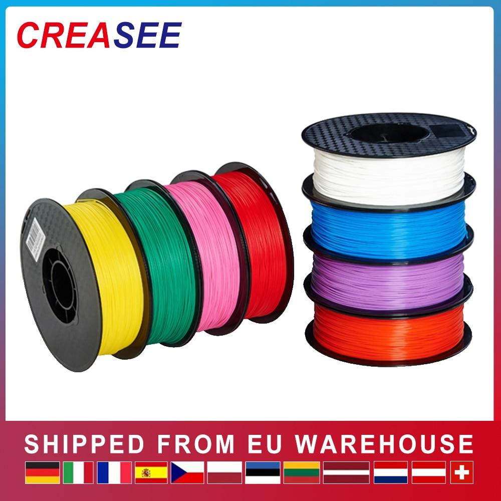 CREASEE ثلاثية الأبعاد خيوط الطابعة 1.75 مللي متر 1 كجم الأحمر ثلاثية الأبعاد طابعة خيوط PLA طباعة ل 3 D القلم الأصفر خيوط بيضاء المواد