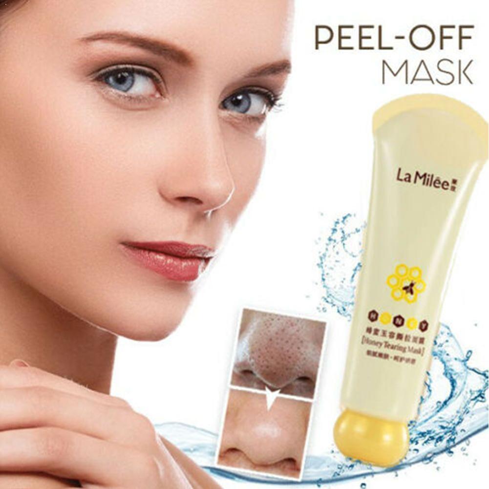 Mel rasgando máscara casca máscara controle de óleo removedor indolor poros encolher máscara de pele morta rosto limpo removedor cravo casca carro s8v4