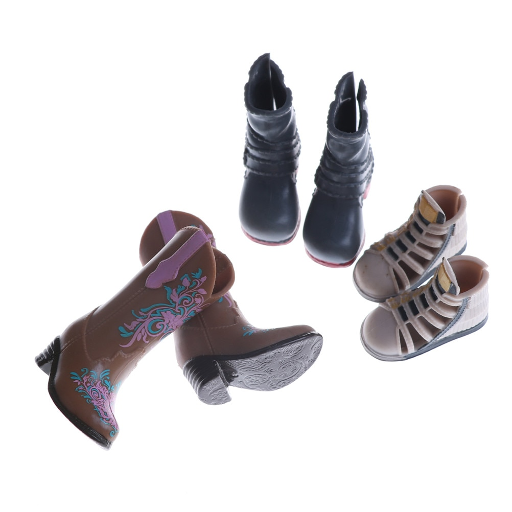 1Pair High Heels Shoes Boots Colorful Fashion Boots For   Cute DIY Clothes Doll Accessories Gifts Ra