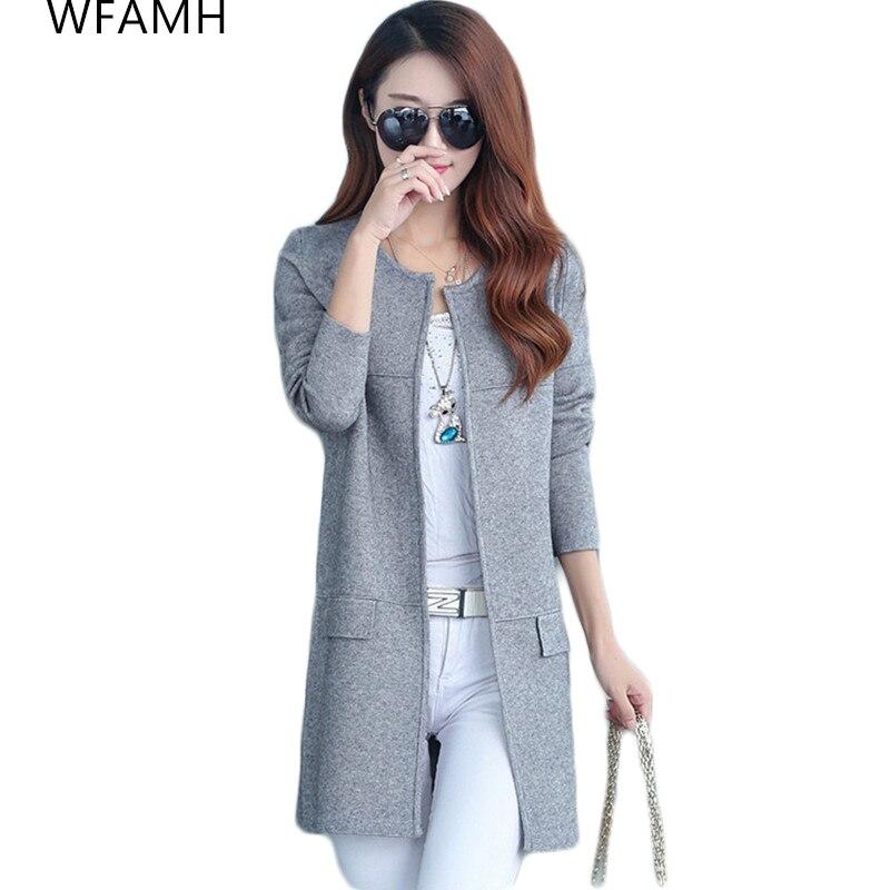 Chaqueta de punto para mujer, nueva moda Otoño Invierno 2020, estilo de manga larga, suéter de punto holgado, cárdigans, suéteres para mujer, abrigo largo, ropa