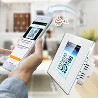Interrupteur mural tactile LCD 4 en 1  1 2 3 boutons  wi-fi  intelligent  pour rideau  eclairage domestique  pour verifier la consommation denergie  avec Apple Homekit