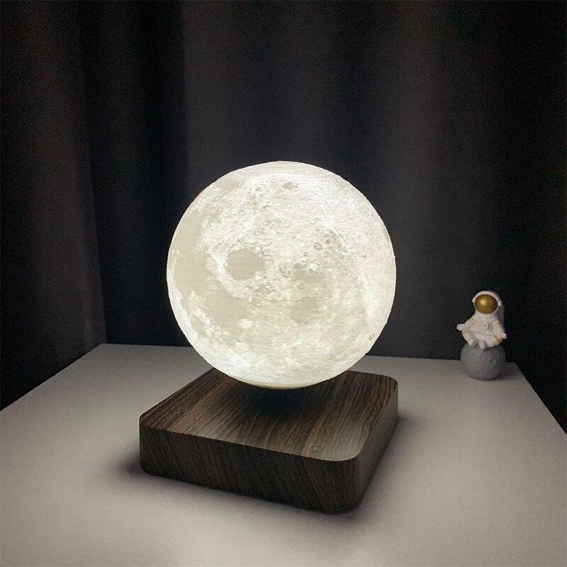 New LED Night Lamp Levitating Creative 3D Touch Magnetic Levitation Moon Lamp Night Light Rotating LED Moon Floating Table Lamp enlarge