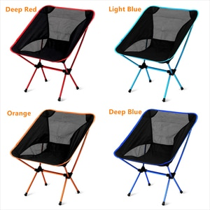 Quality Ultralight Folding Chair High Load Outdoor Travel Camping Chair Portable Beach Hiking Picnic Seat Fishing Tools Stools