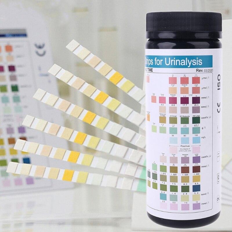 100-strisce-urs-14-urine-striscia-di-carta-14-parametri-chetone-calcuim-di-glucosio