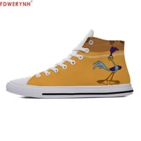 womens customized casual canvas shoes wile e coyote top man road runner high help woman hot women breathable custom shoes