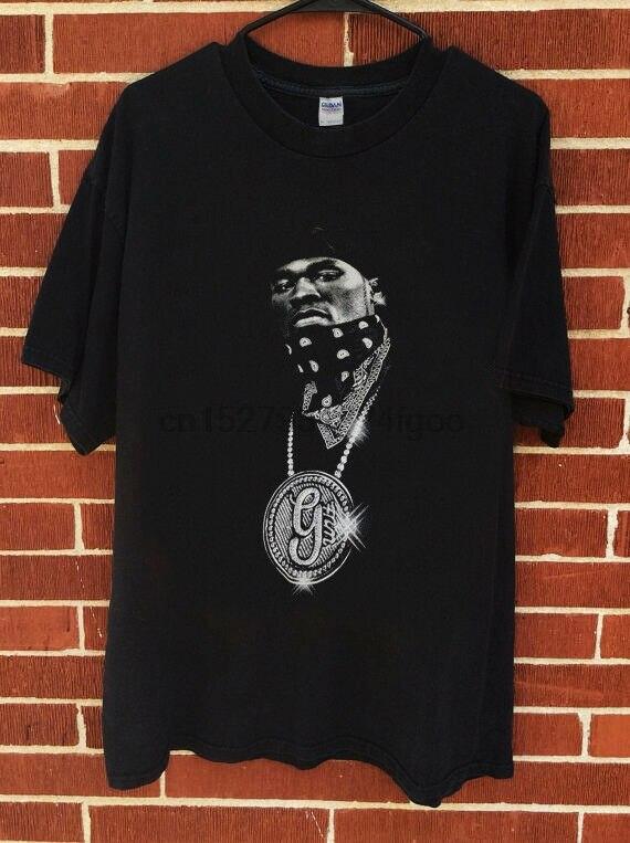 Nuevo raro 1999 50 Cent G unidad camisa mejor stock caliente camiseta mejor