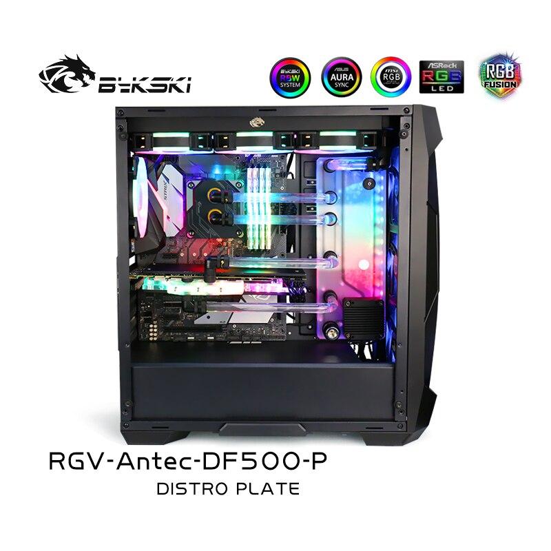 Navegável de Bykski para o Case do Rgb de Antec Argb para a Única Construção de Gpu Kit de Resfriamento da Via Df500 5v Rgv-antec-df500-p