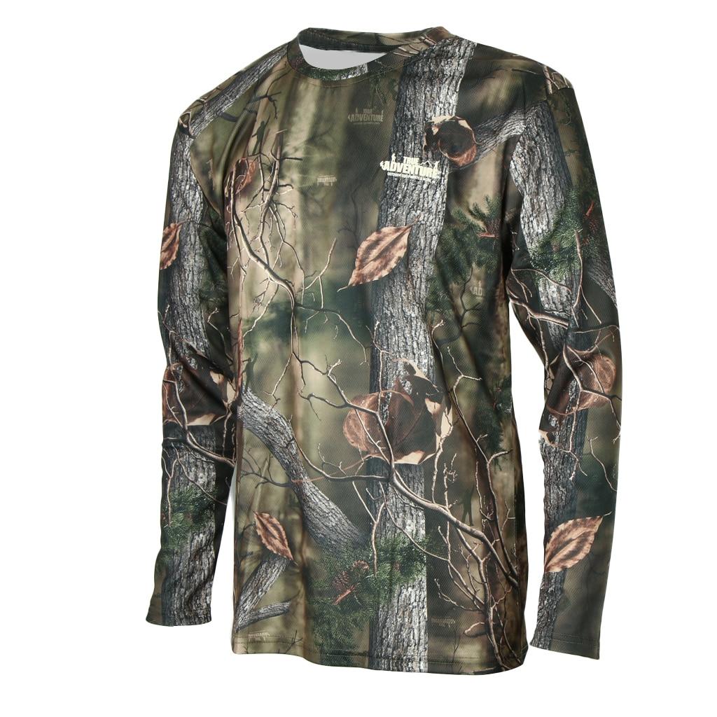 Camiseta de manga larga camuflaje secado rápido camisetas caza pesca Camping camiseta Real árbol selva bosque estampado
