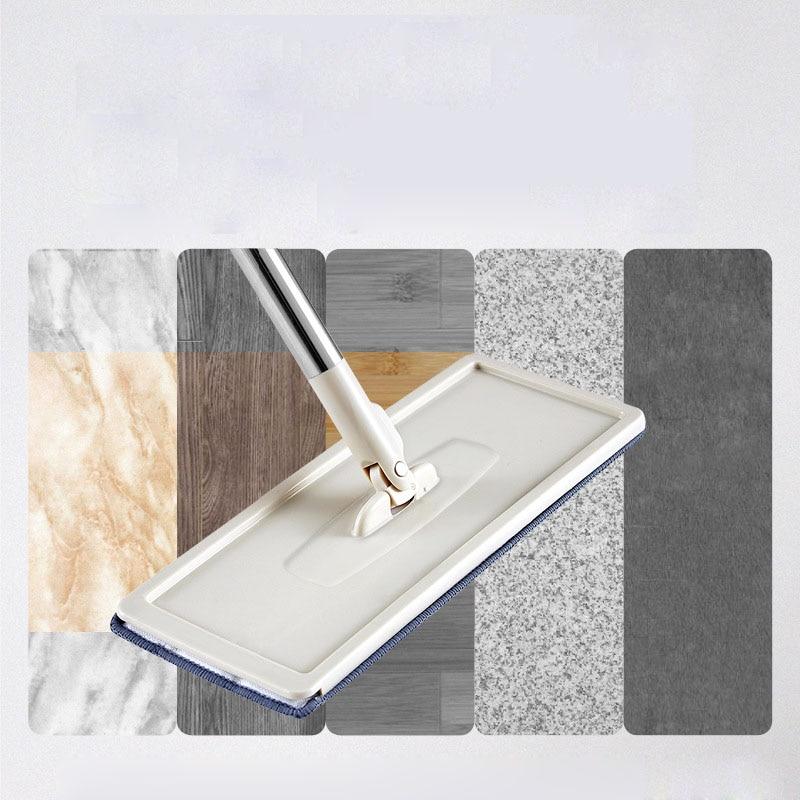 Floor Mop Microfiber Squeeze Mops Wet Mop with Bucket Cloth Squeeze Cleaning Bathroom Mop For Wash Floor Home Kitchen Cleaner enlarge