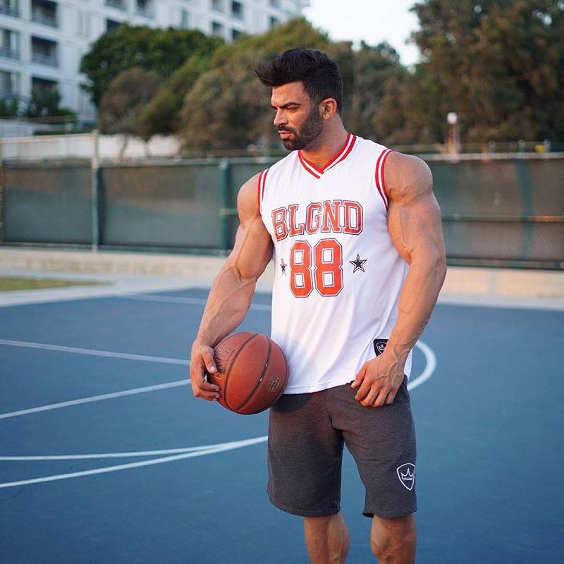 Camiseta sin mangas para hombre de chaleco sin mangas informal para gimnasio...