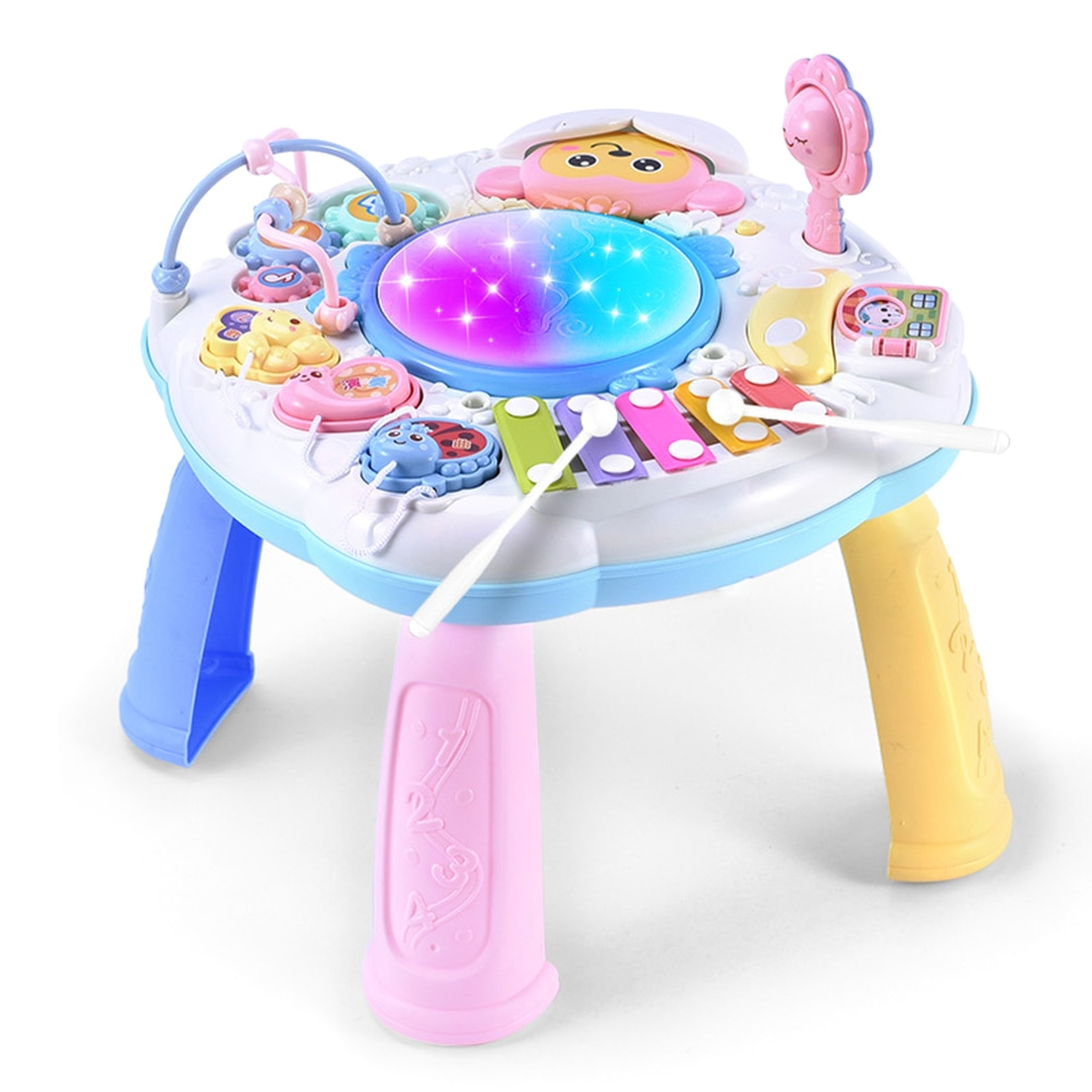 Baby Activity Table Musical Learning Toy Multifunctional Learning Desk Toy Baby Early Educational Toy Gift