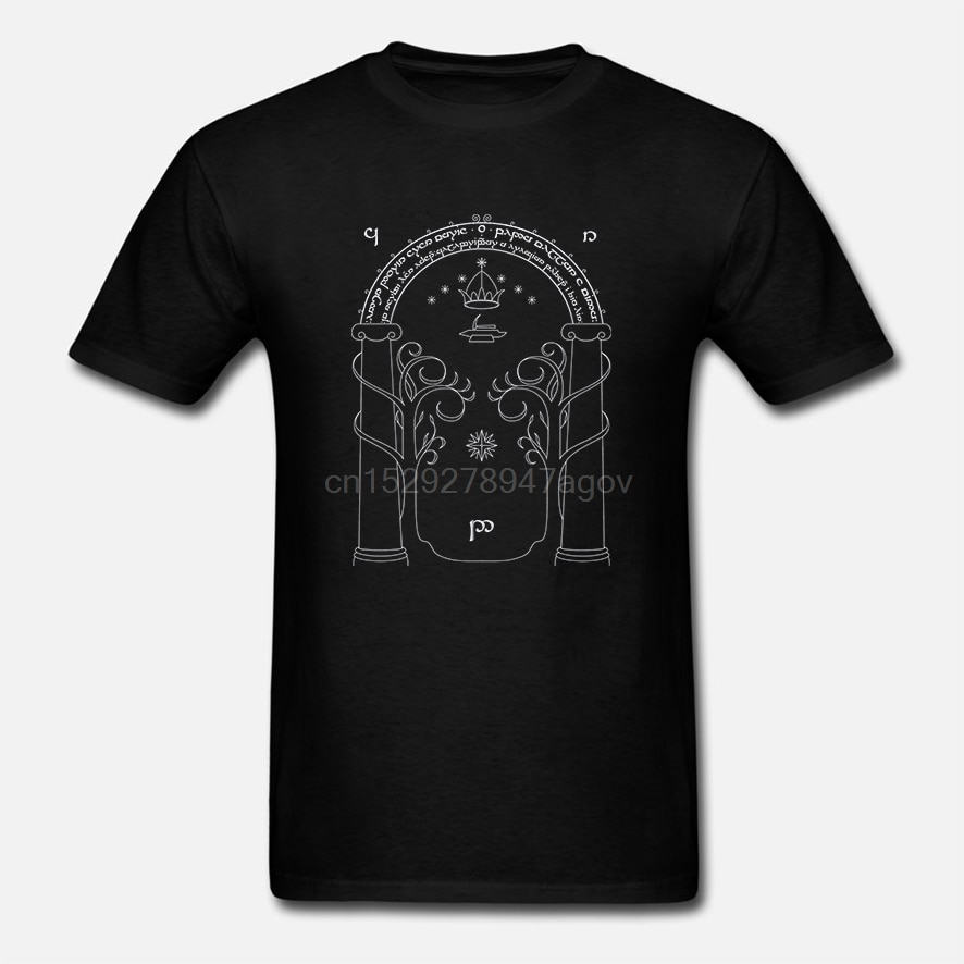 Gate of Moria Door of Durin T-shirt LOTR Shirt Tolkien Unisex Clothing Tee