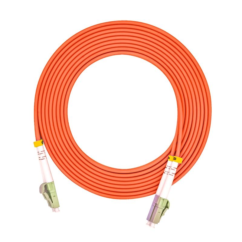 Cable de conexión de puente de fibra óptica, LC/PC-LC/PC, diámetro de 3,0mm, OM1 multimodo 62,5/125, dúplex, LC a LC 1 metros