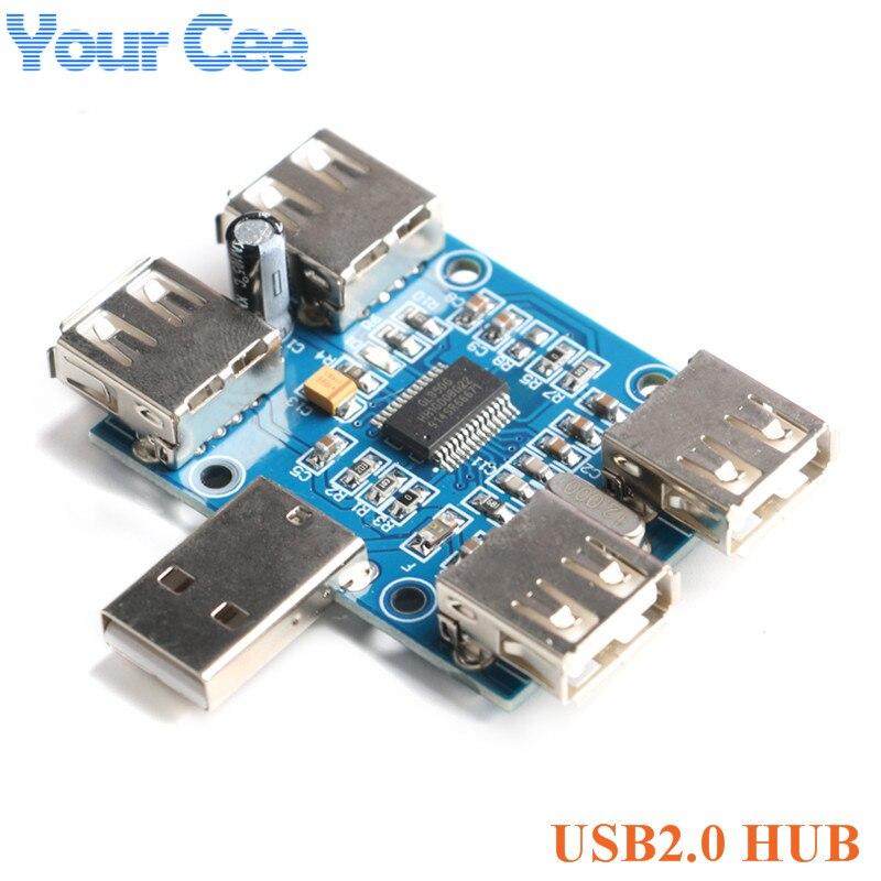Controlador do porto da relação 4 da expansão do módulo quatro da placa de expansão do usb do concentrador 4-fêmea do cubo usb2.0 do cubo de usb da c.c. 5 v