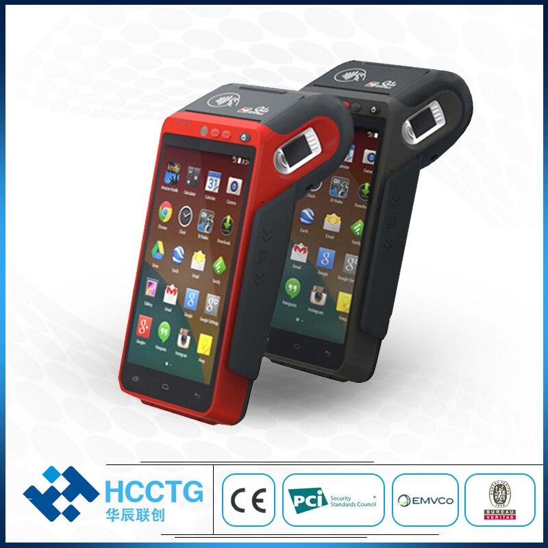 4G Android 7,0 EMV PCI Paypass Сертифицированный мобильный платежный pos-терминал с 58 мм термопринтером Z100C