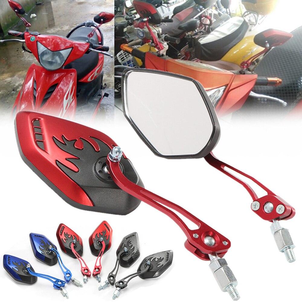 Зеркала заднего вида для мотоцикла, универсальные боковые зеркала для мотоцикла, скутера, вращение на 360 градусов, 1 пара