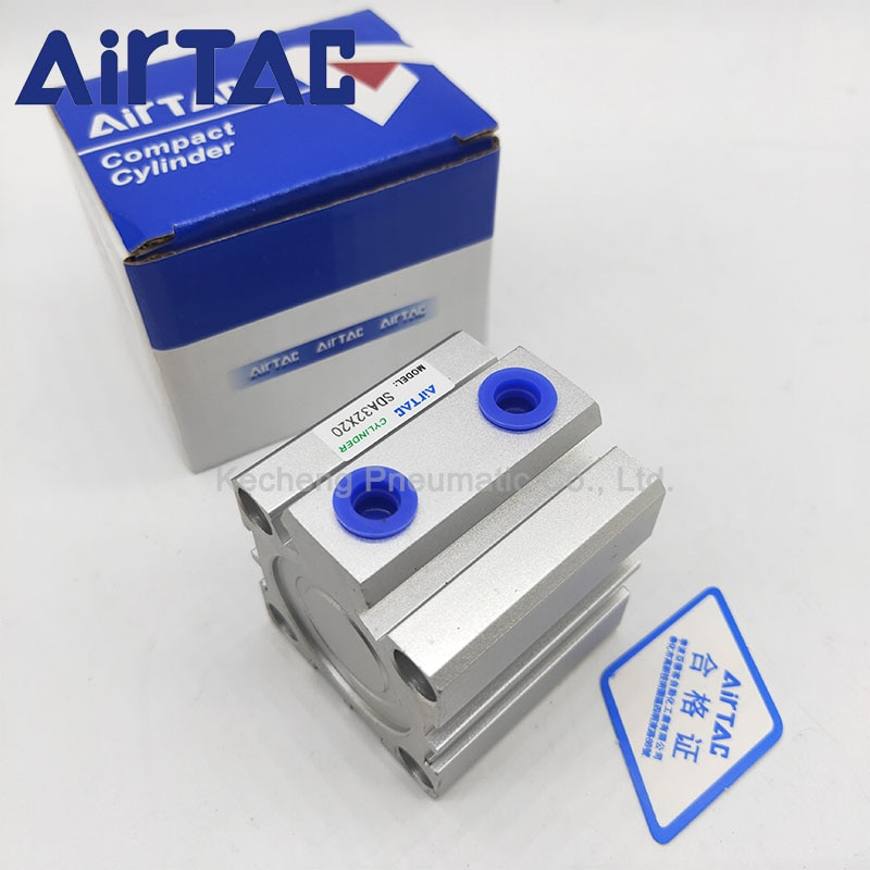 SDA50 AIRTAC Type Air Pneumatic Cylinder Double Acting Compact Cylinder SDA50 Bore 50 mm Stroke 5/10/15/20/25 mm sda cylinder compact pneumatic air 20mm bore 5 100mm stroke sda20 pneumatic double acting cylinder air piston cylinder sda20 25