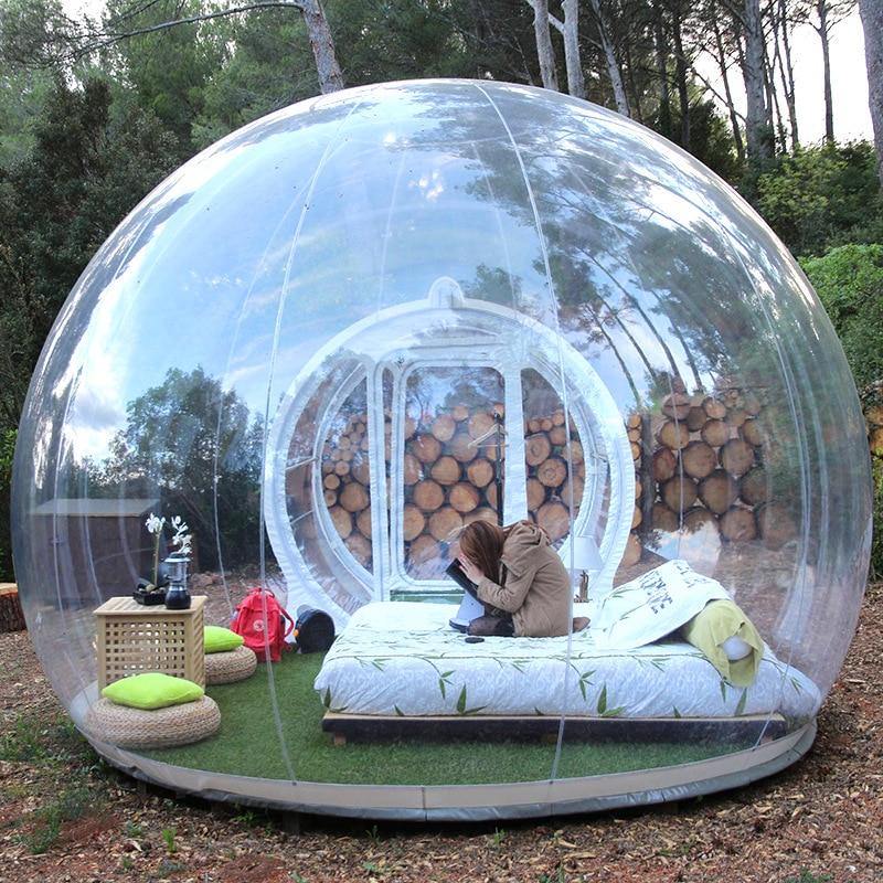 3 м Открытый огромный надувной игрушечный пузырчатый тент Большой DIY Дом для дома на заднем дворе домик для кемпинга домик воздушный пузырчатый прозрачный тент