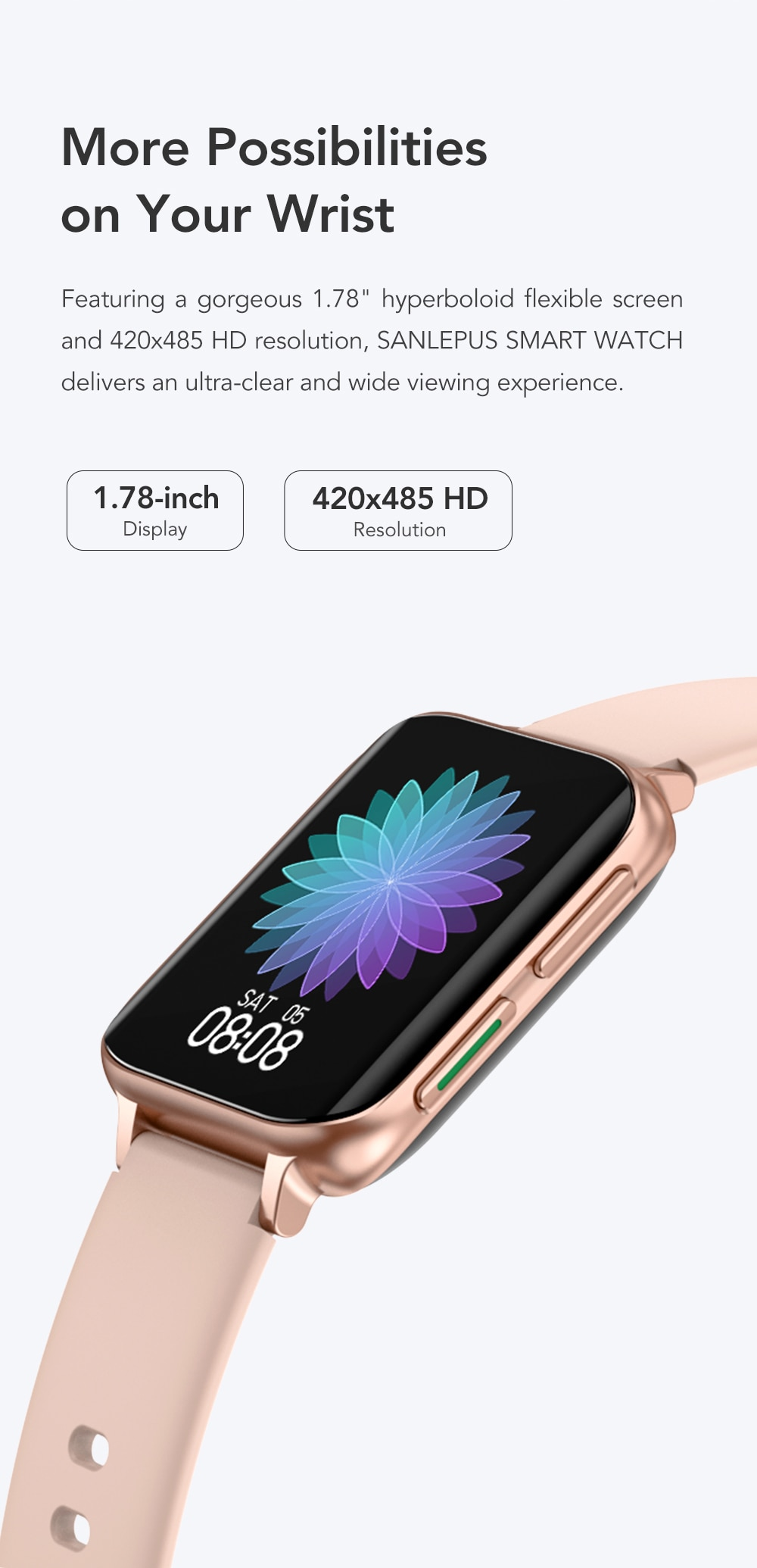 Hde7682a115aa4cc1b4b1493c59fd513cL SANLEPUS 2021 NEW Dial Calls Smart Watch Men Women Waterproof Smartwatch MP3 Player For OPPO Android Apple Xiaomi Huawei