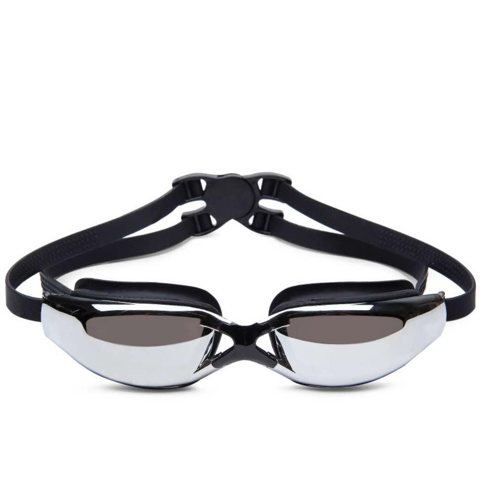 Gafas de natación de miopía de silicona profesional Anti-niebla UV gafas de natación galvanoplastia impermeable natación Eyewear entrega rápida