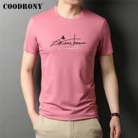 coodrony brand 2021 new arrival high quality summer cool top tees fashion pattern casual o neck short sleeve t shirt men c5195s