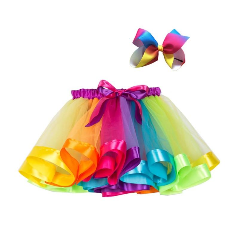 Nueva falda tutú faldas para bebé o niña princesa Pettiskirt fiesta baile Arco Iris tul faldas Niñas Ropa niños ropa