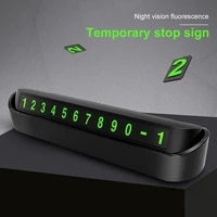 car temporary parking card phone number card telephone magnet car flip numbers auto accessorie parking car accessories interior