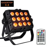 freeshipping 12x18w battery wireless outdoor led flood light big lens 25 degree wall washer ir remote dmx control auto color
