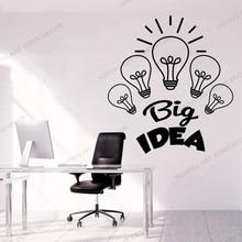 Creative grande idée bureau citation stickers muraux bureau affaires vinyle autocollant mural entreprise étude bureau décor accessoires rb641