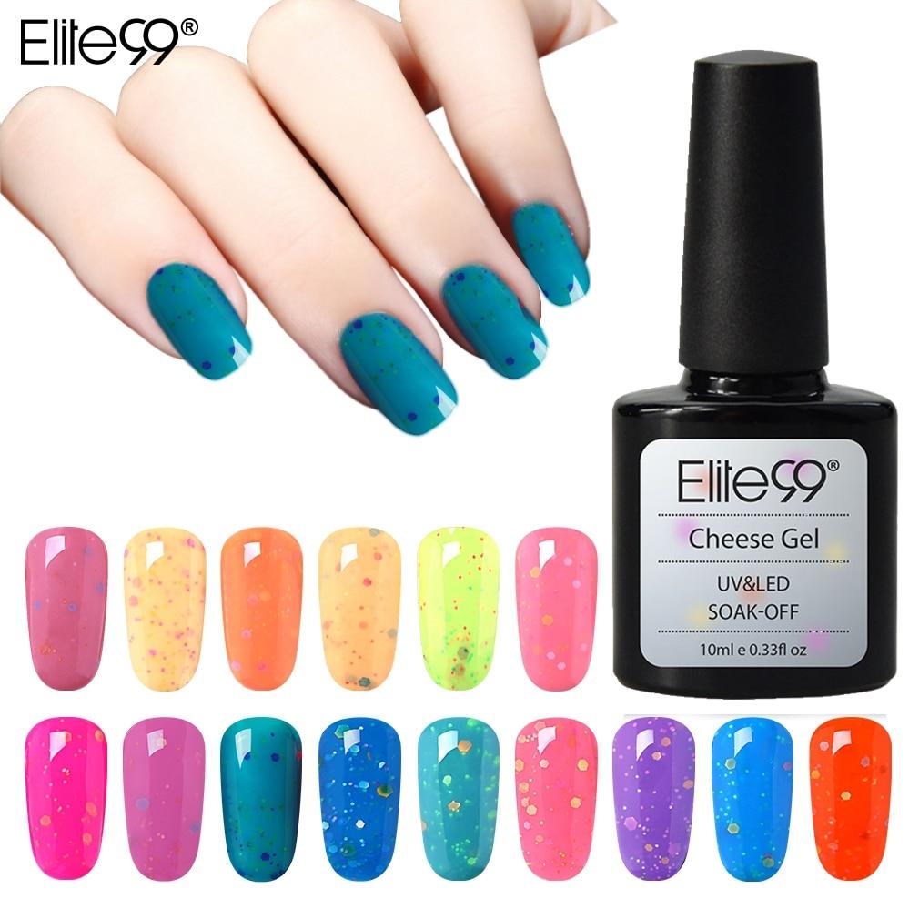 Elite99-esmalte de uñas Candy, Gel UV LED para uñas de 10ML, color blanco lechoso, necesita queso, barniz de cambio de temperatura, esmalte permanente