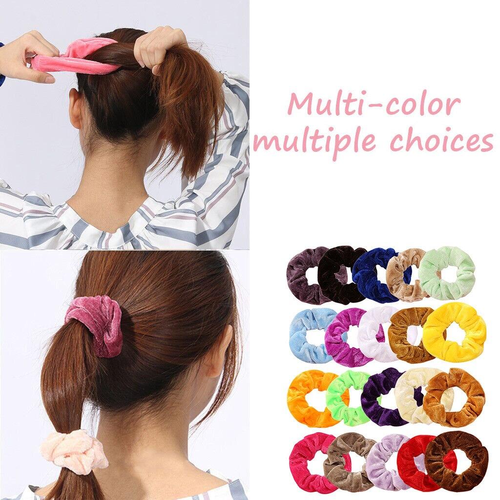Y 1 Uds de accesorios para el cabello, bandas elásticas de terciopelo para el cabello para mujeres, accesorios para el cabello para niñas, accesorios para el cabello de Moda para Mujer 2019 haar elastiekjes