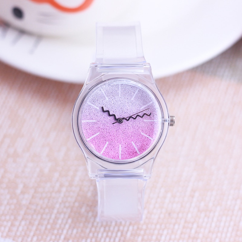 2021 Women Men Fashion Star Galaxy Face Quartz Wristwatch Lady Boys Girls Personality Waterproof Transparent Cool Watches
