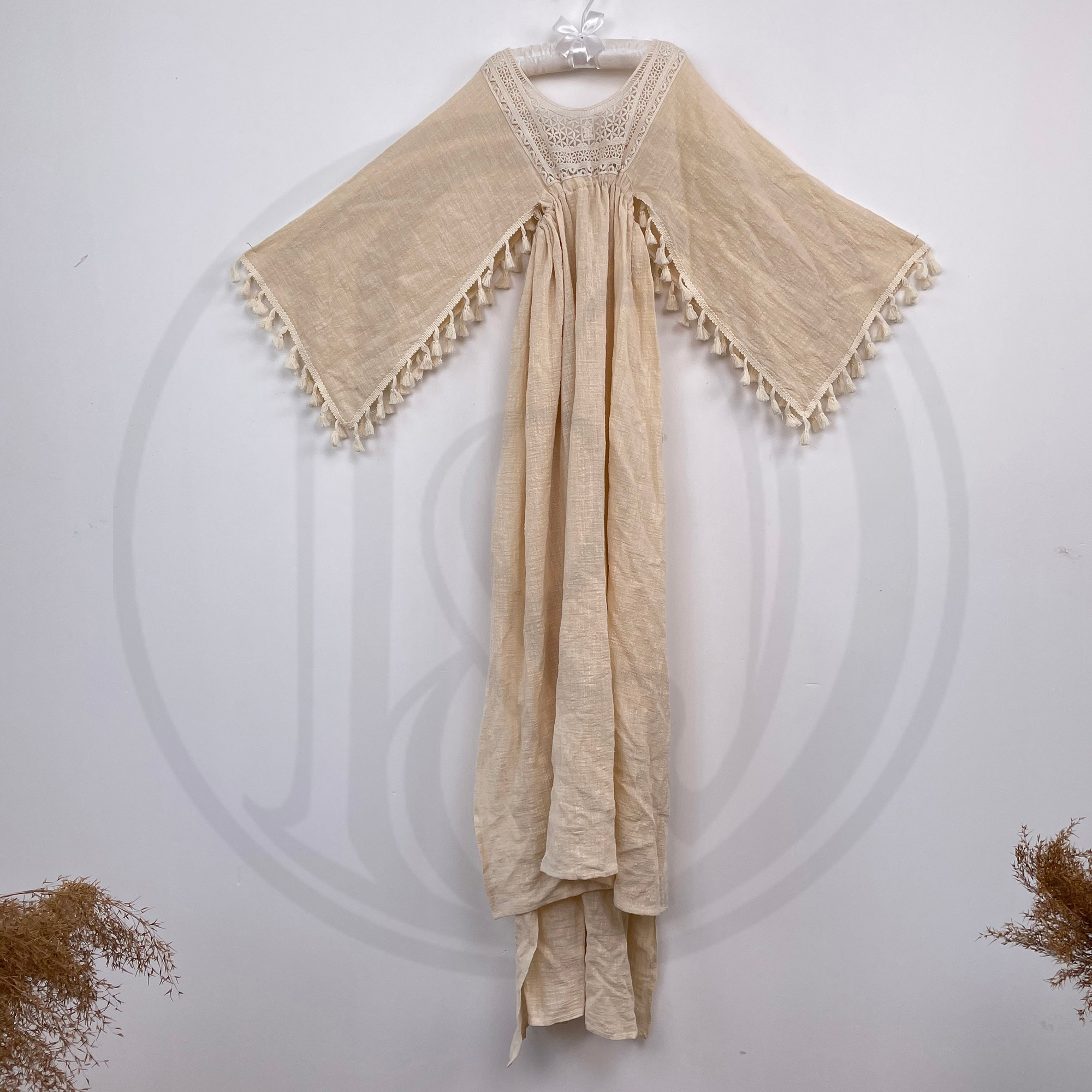 Vintage Embroidery Boho Cotton Photo Shoot Little Girl Robe Kid Evening Party Dessfor Children Photography Accessories
