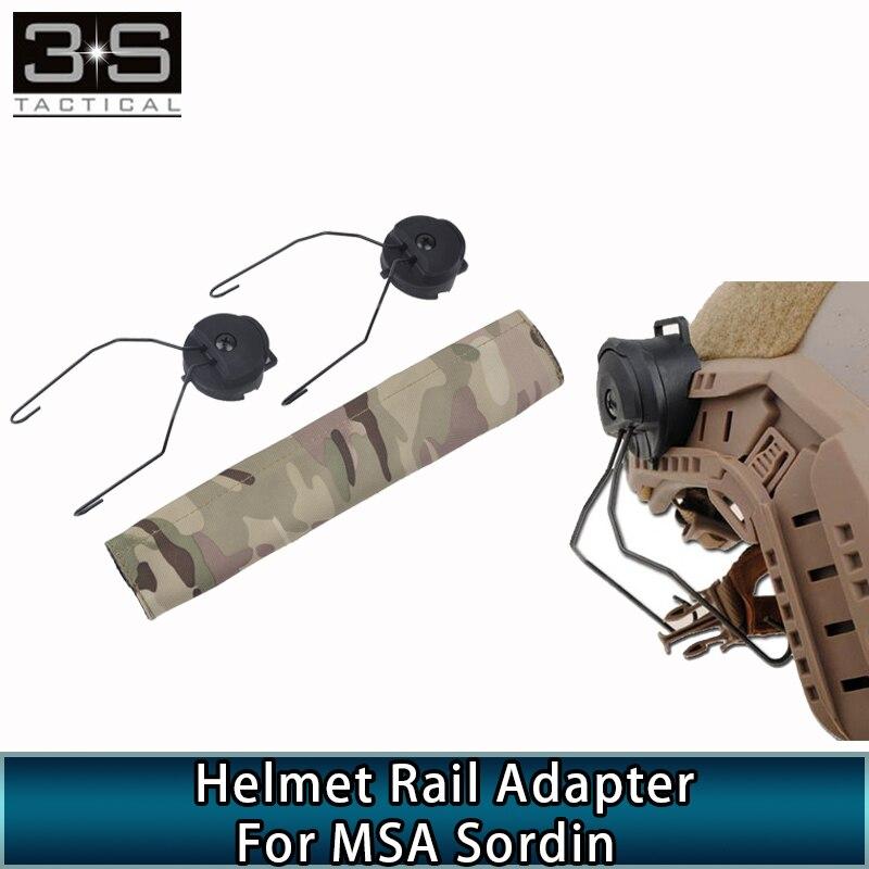 Z-TAC tático peltor capacete ferroviário adaptador conjunto para msa fone de ouvido sordin fones acessório