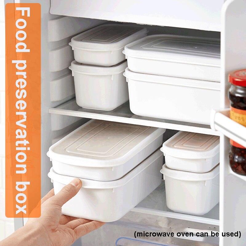 1 pçs recipiente de alimentos plástico bento fresh-keeping box geladeira multi capacidade caixa de armazenamento de microondas cozinha organizador 2020