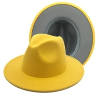 british chlid print color block jazz hat two tone felt hat elegant boys and girls felt hat with winter womens felt fedora hat