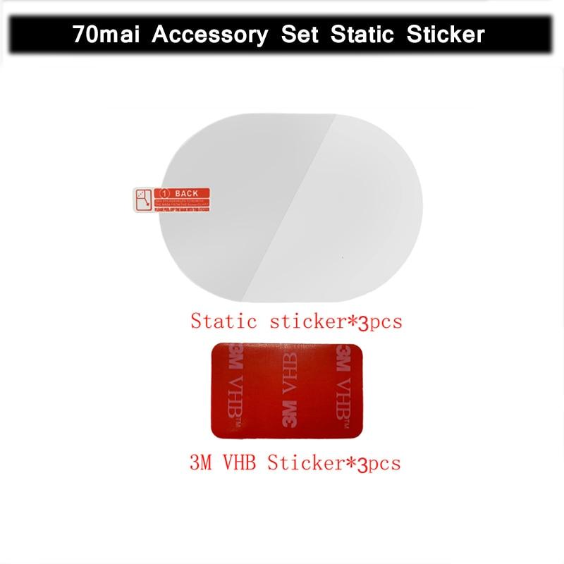 For70mai Accessory Set Static Sticker  3M Film and Static Stickers, Suitable for 70 mai Car DVR 3M film holder 3PCS