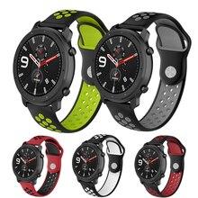 Bracelet en silicone souple pour Xiaomi Huami Amazfit GTR 42 47mm Bracelet de montre intelligent pour Amazfit GTS huawei GT2 46mm bracelets