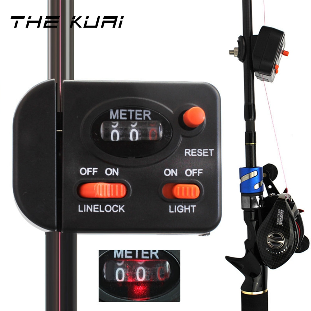 THEKUAI Fishing Line Counter 99.9 M Length Fishing line Depth Finder Electronic Counter Feeder fishing tackle gear accessories