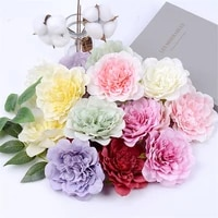 5pcs 10cm large artificial peony flower high quality silk rose for wedding party home decoration diy wreath gift clip art flower