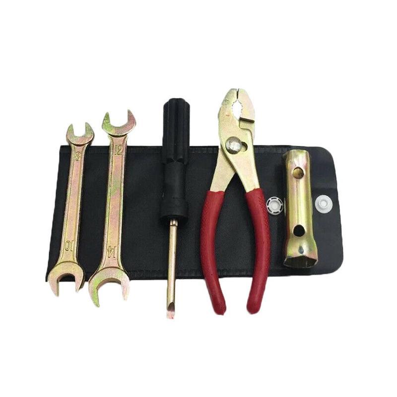 5 Pcs/set Motorcycle Repair Tool Set Pliers Wrench Spark Plug Sleeve Kit Screwdriver Accessories