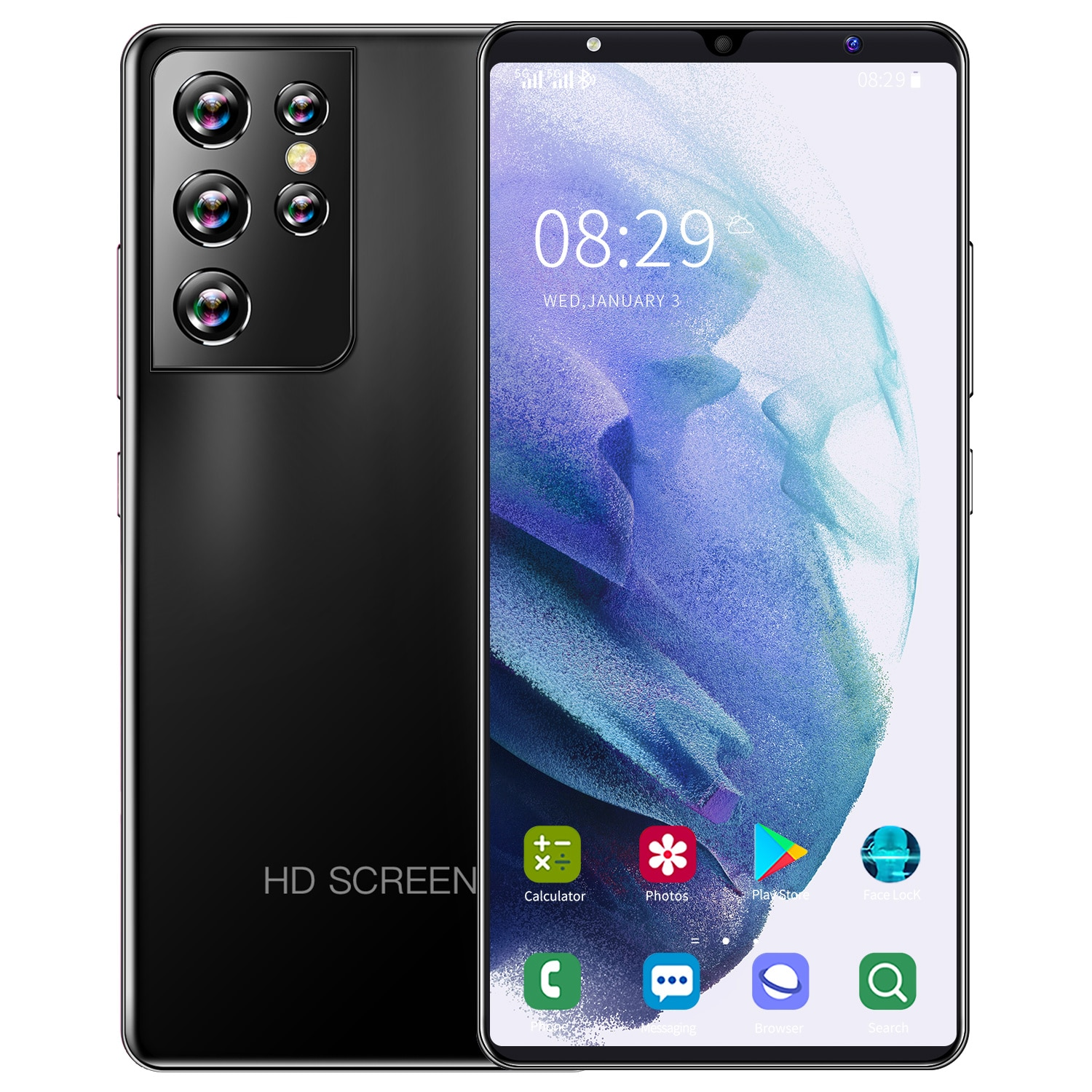 Global Version Galay Mobile Phones S21 Ultra 5.0 Smartphone 6GB 128GB 5000mAh CellPhone Android Dual Sim Face Unlocked Phone enlarge