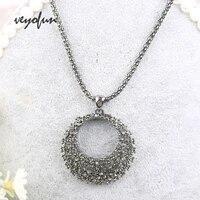 veyofun shiny rhinestone zinc alloy necklaces charm pendant long chain necklace fashion jewelry choker